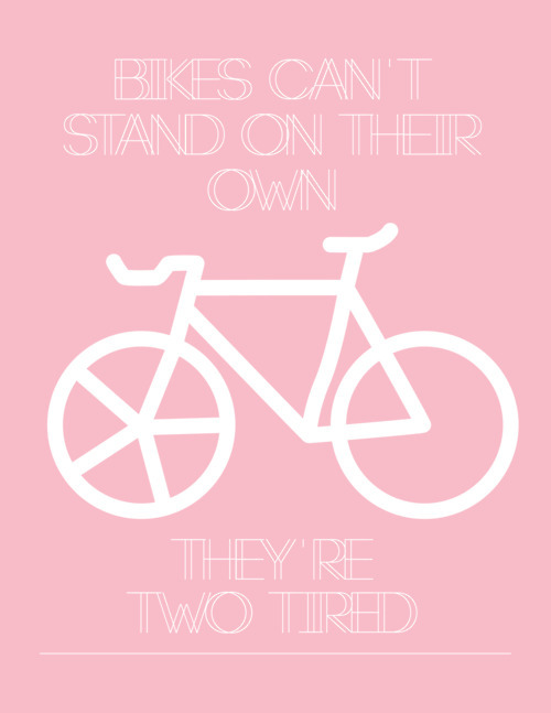 bike, design, pink, pun, text, typography, words