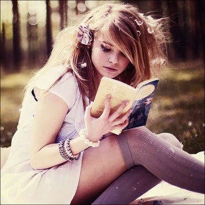 blonde, book, fashion, girl, reading