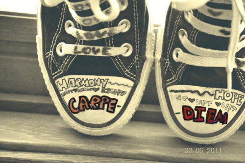 carpe, day, diem, heart, love, seize, shoes