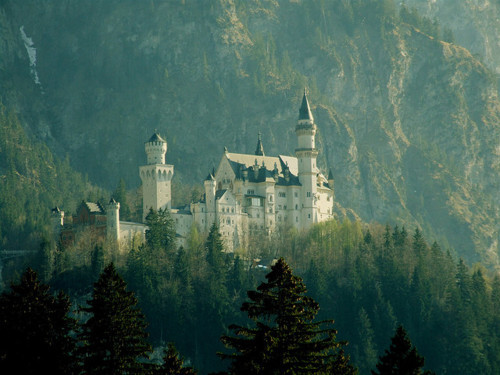 castle, fairytale, forest, green, magical