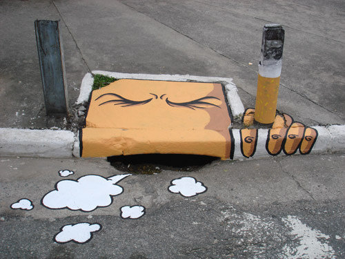 cigarette, smoke, smoking, street art