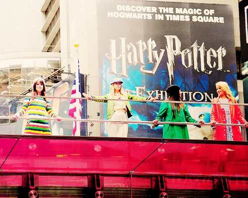 dianna agron, glee, glee cast, glee cast in nyc, harry potter