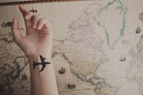 airplane, airplanes, hand, map, photography, the day i met her, travel