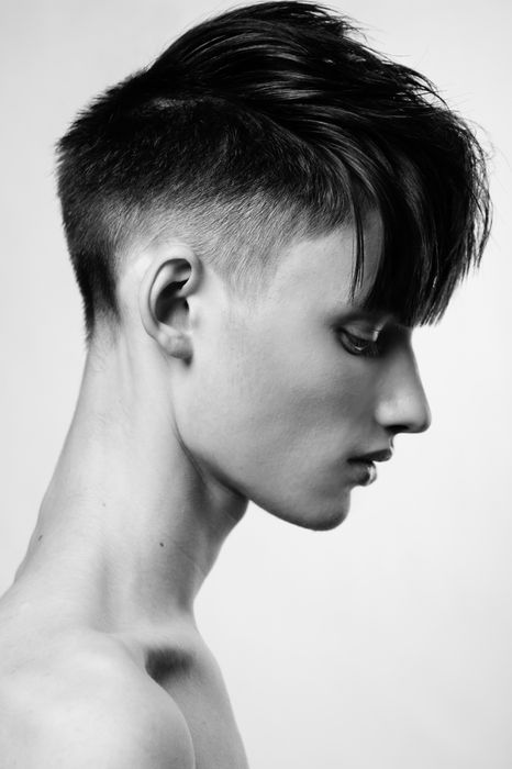 adams apple, adamsapple, black and white, bones, boy, boys, clavicles, cute, goth, gothic, hair, hot, i love him, male, model, muscles, photography, portrait, profile, shirtless, skinny, skinny boy, thin, torso