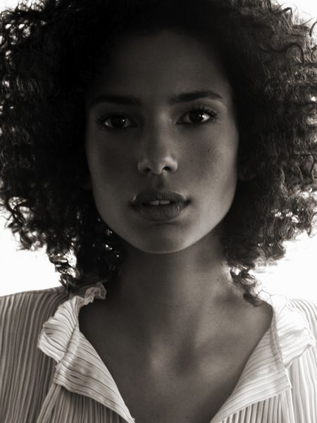 afro, black and white, gorgeous, hair, model