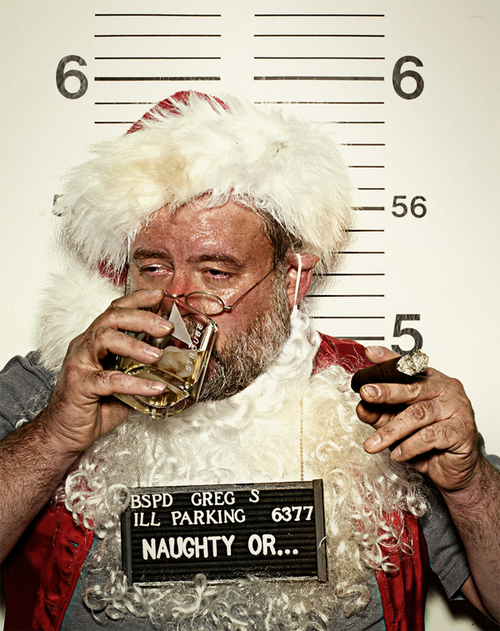 alcohol, christmas, cigar, naughty, santa