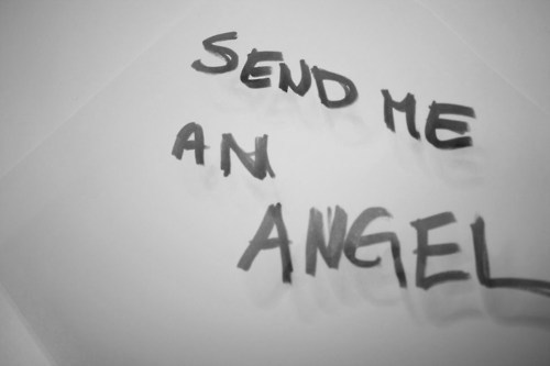 angel, black and white, rtp, send, text