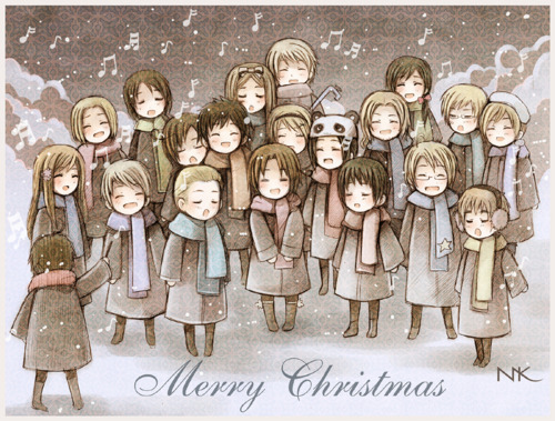 austria, carols, christmas, conducted, hetalia