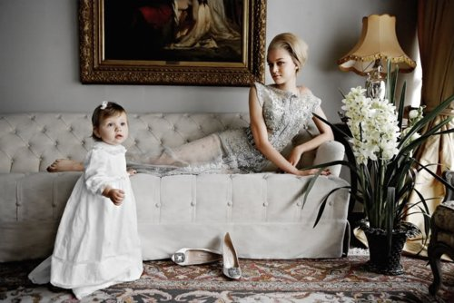 baby, december 2010, dress, frame, madisyn ritland, mara desypris, sofa, tufted, tufted sofa, vogue, vogue greece, vogue hellas