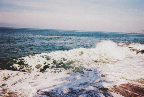 beach, ocean, sand, sky, water, wave