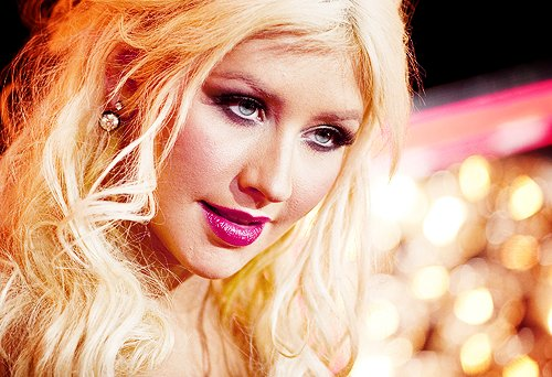 beautiful, blonde, christina aguilera, singer