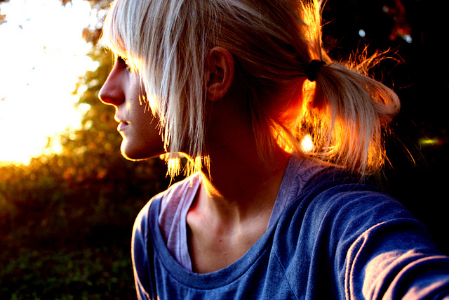 blonde, bones, collarbone, girl, hair