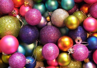 blue, christmas ornaments, festive, green, ornaments, pink, purple, shiny, sparkly