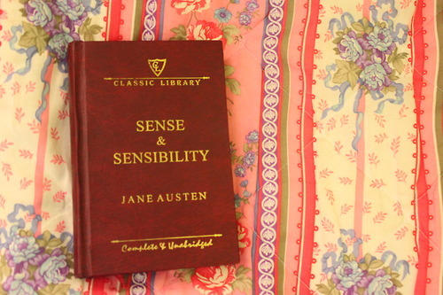book, jane austen, sense and sensibility