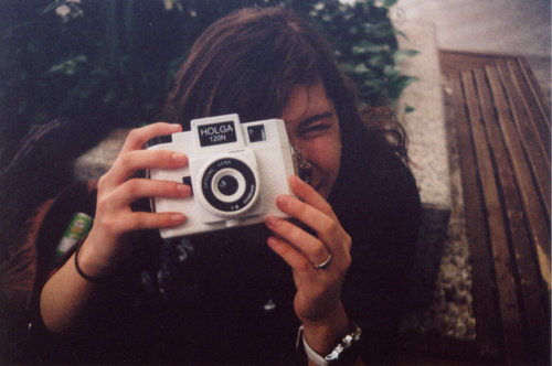 camera, girl, holga, photography, vintage