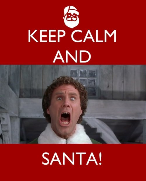 christmas, elf, keep calm, lol, love this