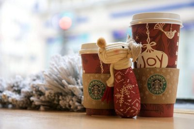 christmas, holiday, red cup, starbucks