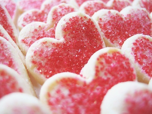 cookies, food, heart, hearts, pink