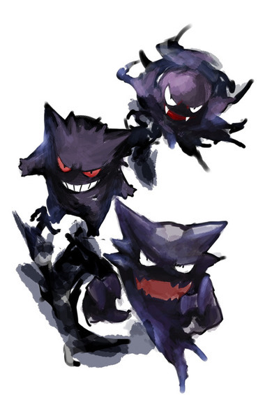 gastly, gengar, haunter, pokemon