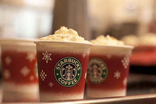 holiday cup, little, red cup, sampler, starbucks