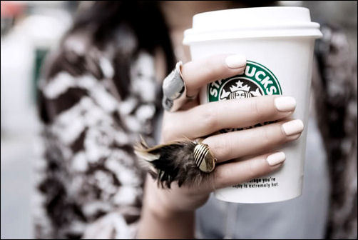 jewelry, nails, ring, starbucks