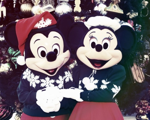 merry christmas, mickey mouse, minnie mouse