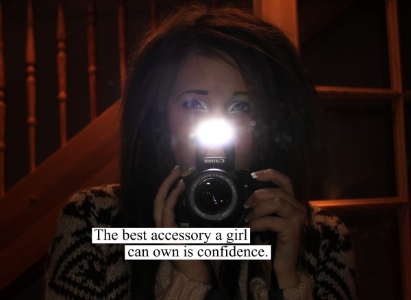 accessory, best, camera, can, canon, confidence, emo, eyes, girl, makeup, mirror, own, pretty, quote, sad, scene, text, wow u look so confident