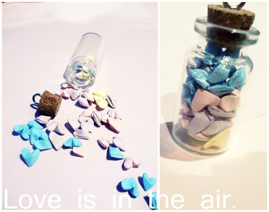 air, bottle, color, heart, hearts