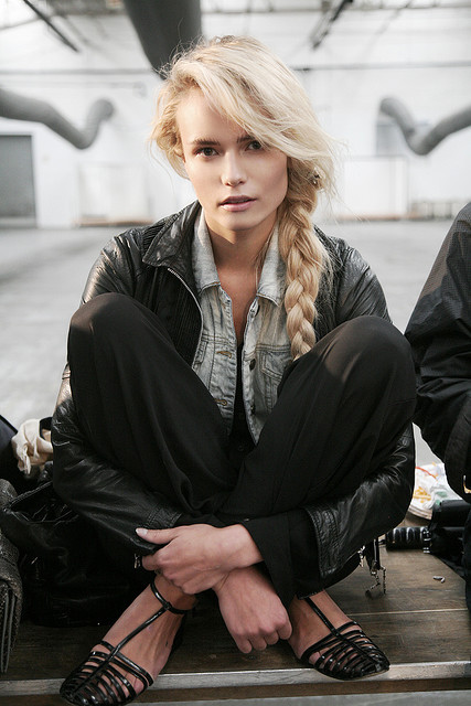 alexander wang, hair, model, natasha poly, plait