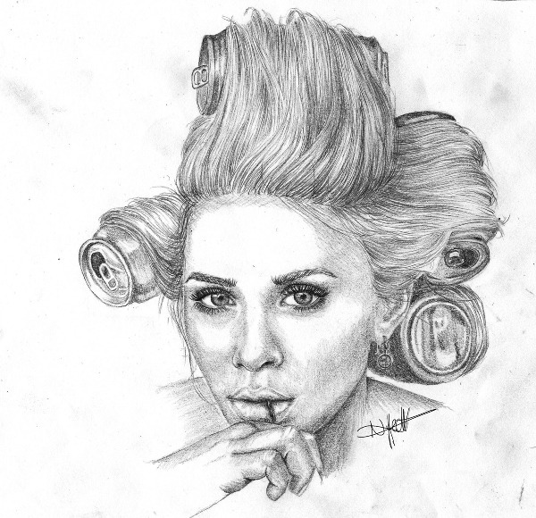 art, ashley, drawing, fashion, illustration, mary-kate, olsen