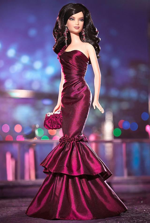 barbie, barbie doll, dress, red, rhapsody in new york