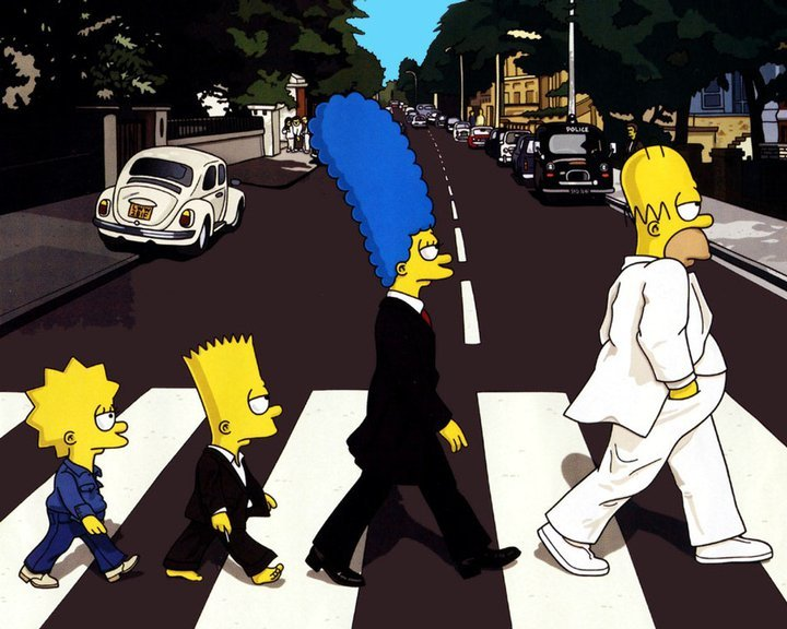 bart, homer, lisa and marge