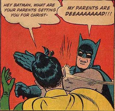 batman, cartoon, christmas, comic, fun, funny, holidays, robin