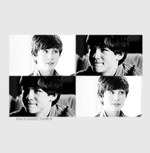 beautiful, black and white, boy, logan lerman, longan lerman
