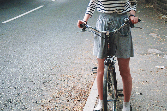 bike, cycling, dress, element, girl