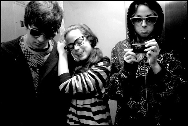 black and white, fashion, friends and glasses