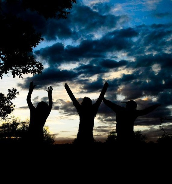 black, blue, clouds, girls, kat, photography, pretty, silver, sky, sunset, trees