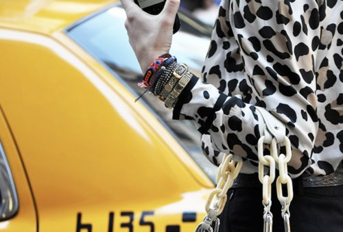 bracelets, cab, fashion, leopard print, taxi, yellow