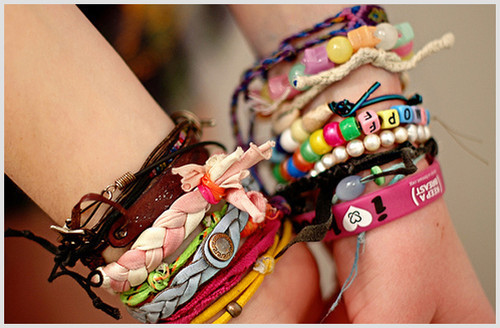 bracelets, colorful, creative