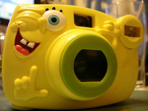 camera, spongebob, squarepants, yellow