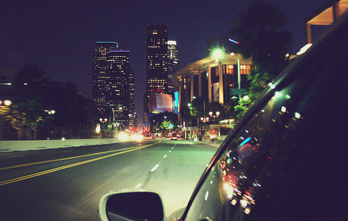 car, city, drive, night, ride