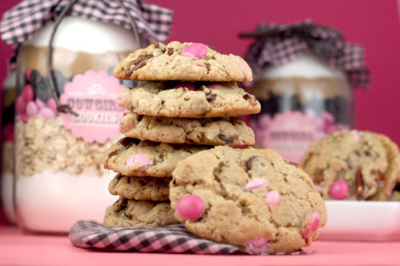 chocolate, cookies, delicious, food, pink, pretty