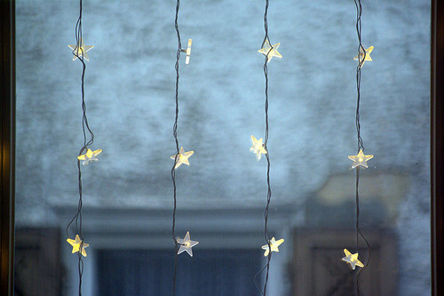 christmas, christmas lights, stars, winter