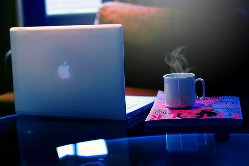coffe, laptop and papers