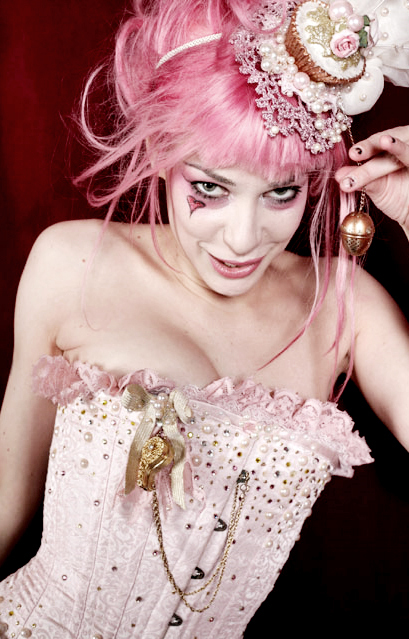 corset, emilie autumn, girl, heart, pink