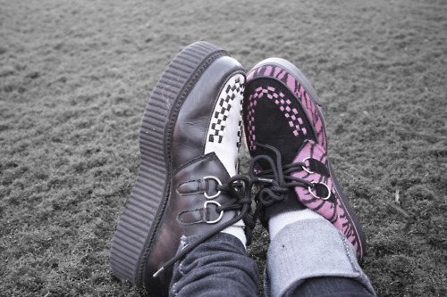 couple, creepers, love, punk, shoes