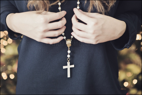 cross, fashion, girl, rosary