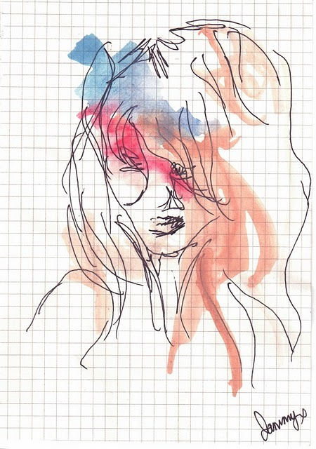 drawing, girl, painting, revolutionary bliss, sketch, water colour, watercolor, watercolour