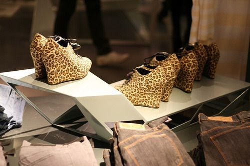 fashion, heels, leopard print, shoes, wedges