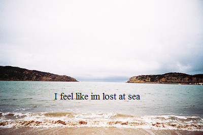 feel, lost, sea